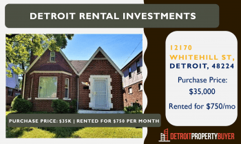 Detroit Rental Investment for Sale
